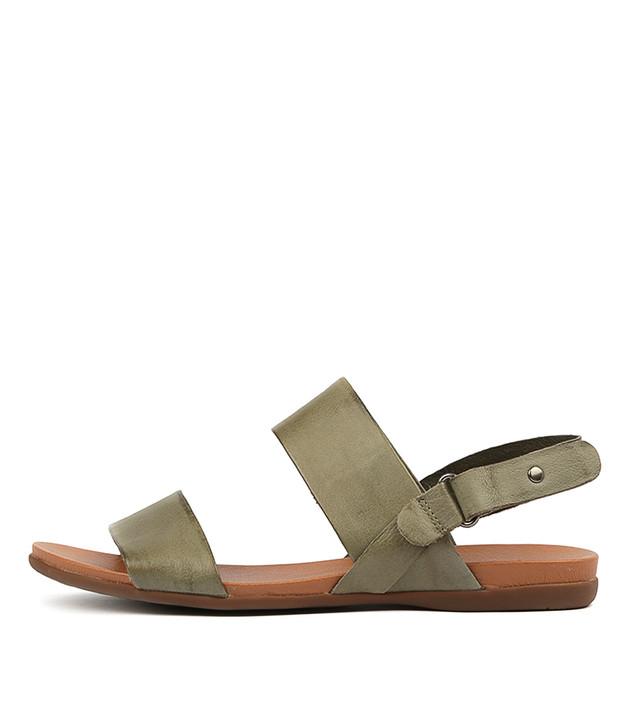 BRIDE Sandals Khaki Leather