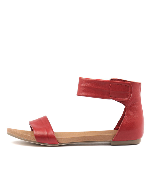JUZZ Sandals Red Leather