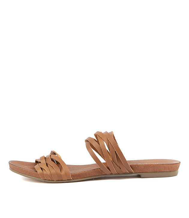 JOSSIE Sandals Coffee Leather
