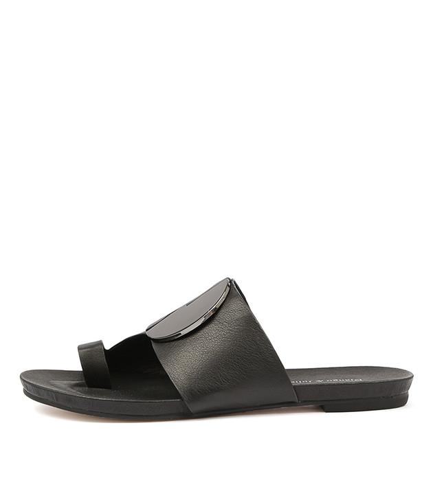JADONS Sandals in Black Leather