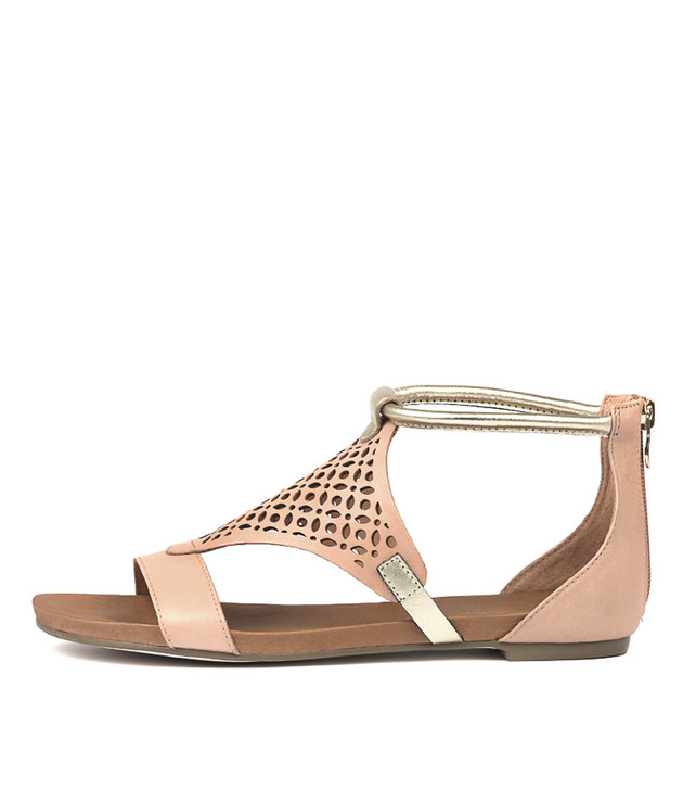 JIMBLE Sandals Pale Cantaloupe Leather