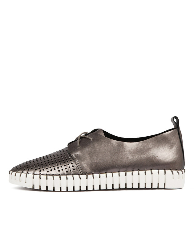 HUSTON Flats Pewter Leather