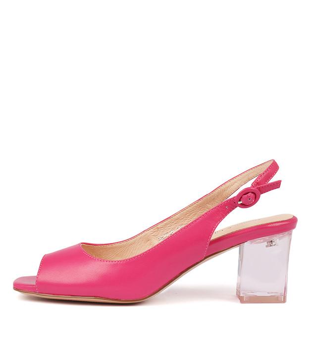 DEBINE Heeled Sandals in Fuchsia
