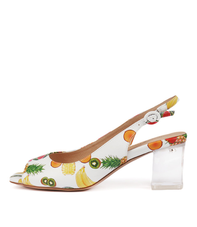 DEBINE Heels Sandals White Fruit Salad