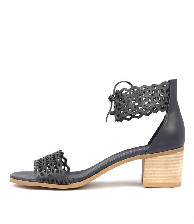 DORLA Heels Sandals Navy Leather
