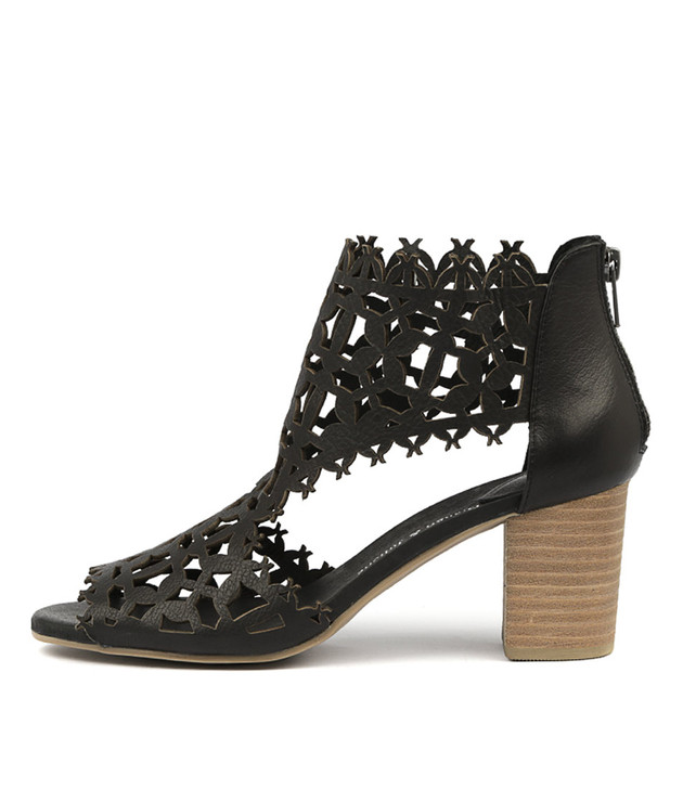 SHANON Heels Sandals Black Leather