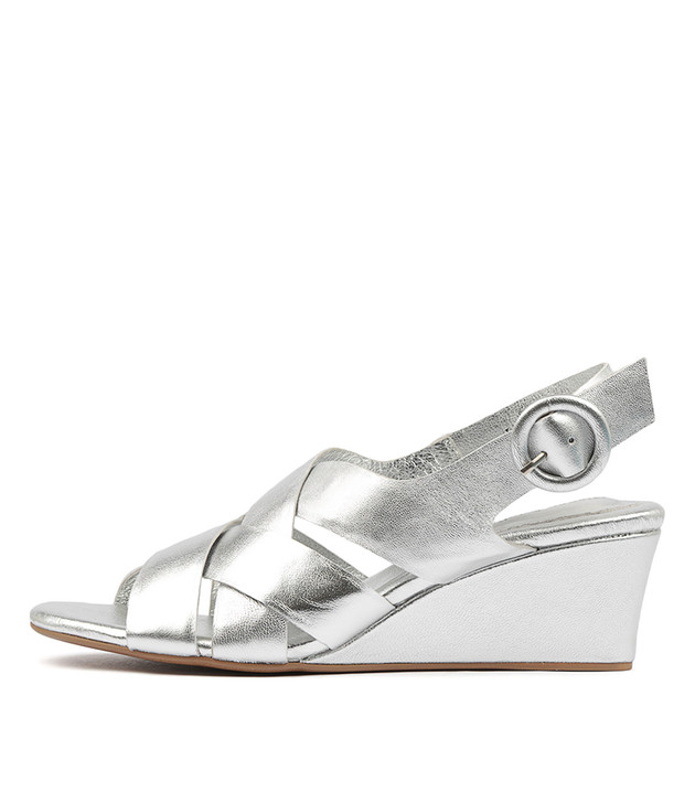 LORIN Heels Sandals Silver Leather