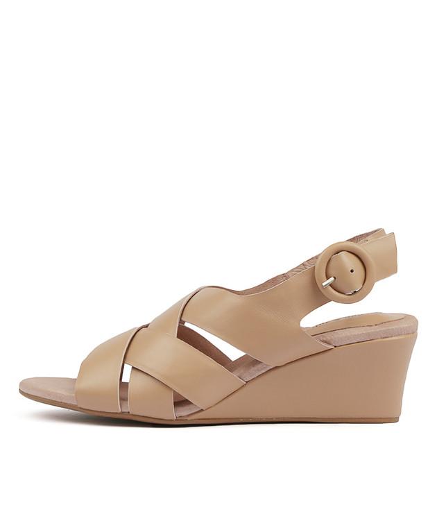 LORIN Heels Sandals Nude Leather