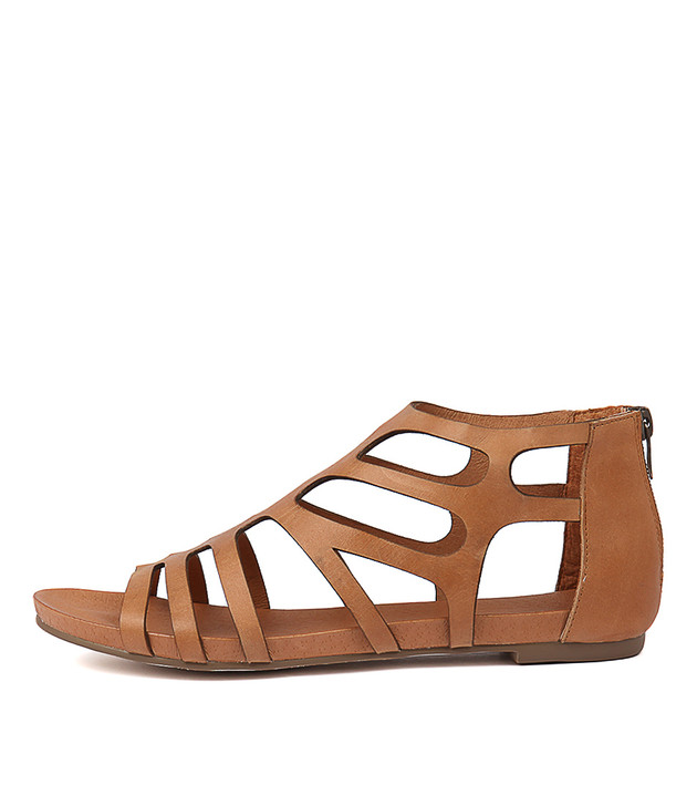 JASENT Sandals Tan Leather