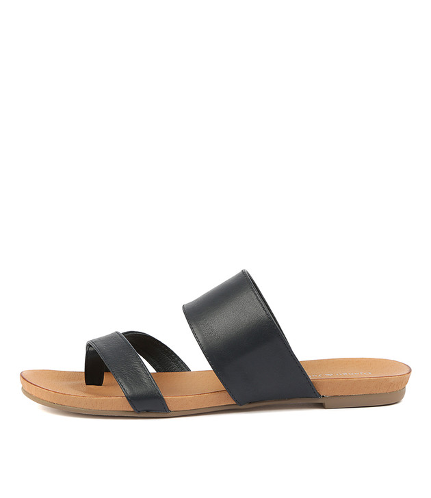 JENILEE Sandals Navy Leather
