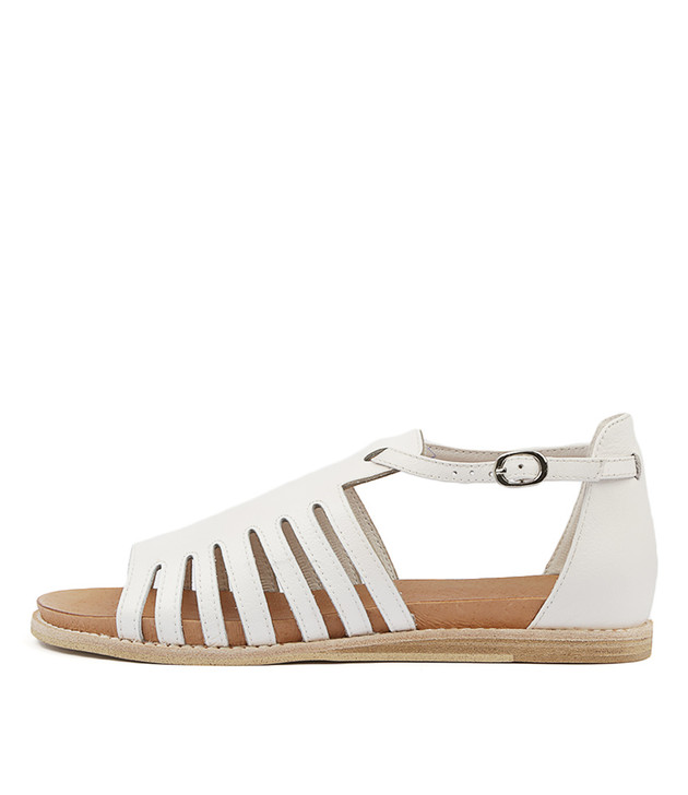 HATAL Sandals White Leather
