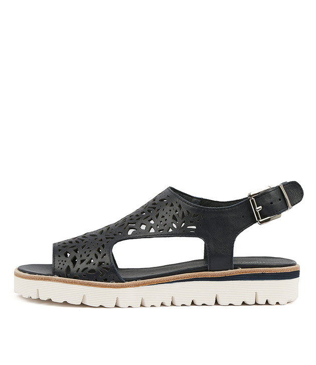 TRICILLY Sandals in Navy Leather