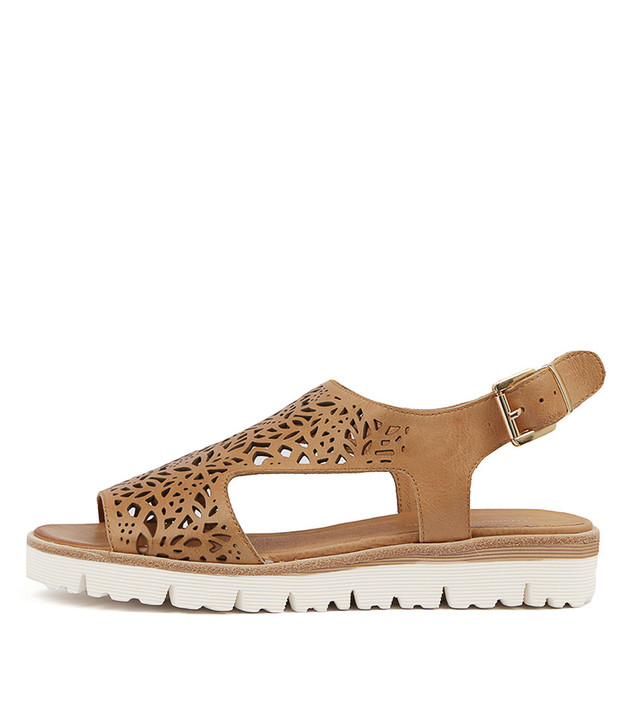 TRICILLY Sandals Tan Leather