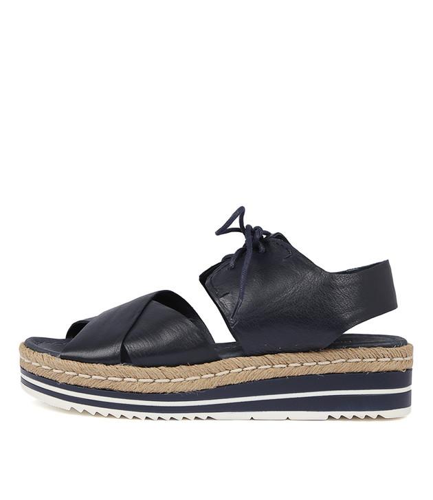 AVIE Navy Leather