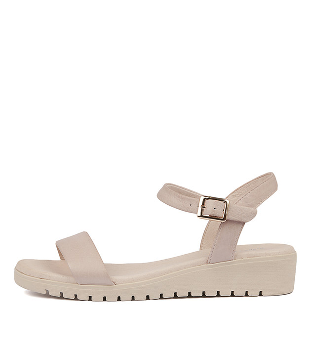 MARYLEE Sandals Pale Pink Leather