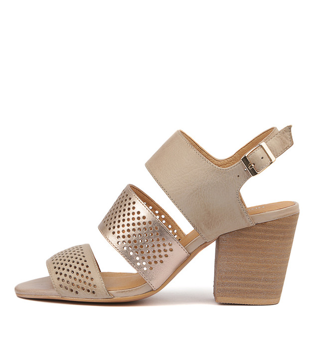 WANTES Heels Sandals Nude Rose Gold