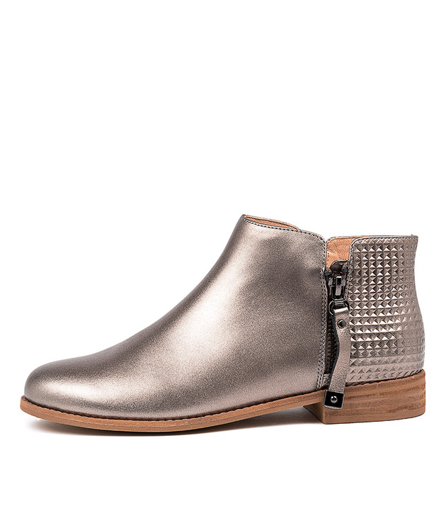 ALWINE Boots Boots Pewter Leather