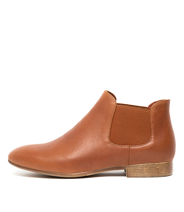 KHIRY Boots Boots Dark Tan Leather