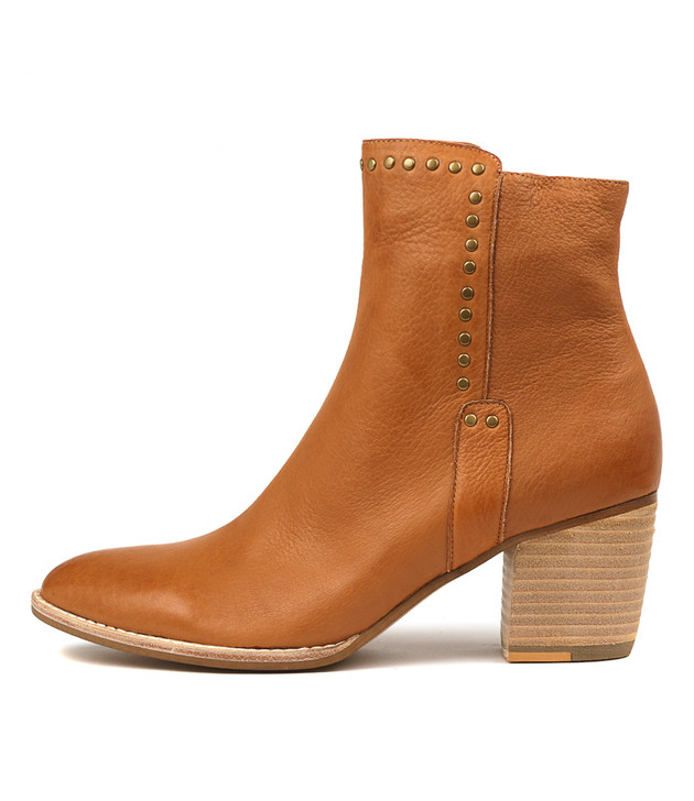 BRISTING Boots Dark Tan Leather