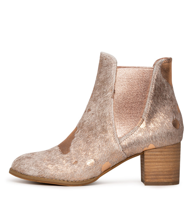 SADORE Boots Nude Rose Gold Pony  Hair