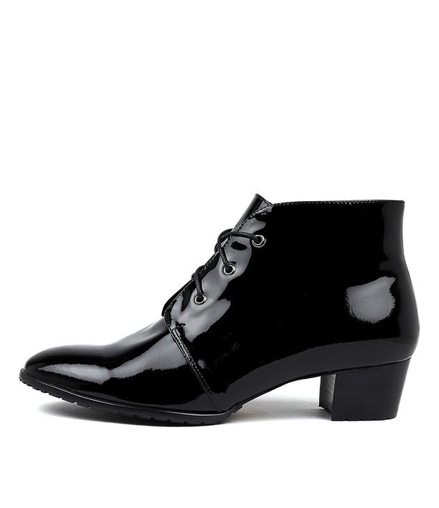 TANKERM Boots Black Patent Leather