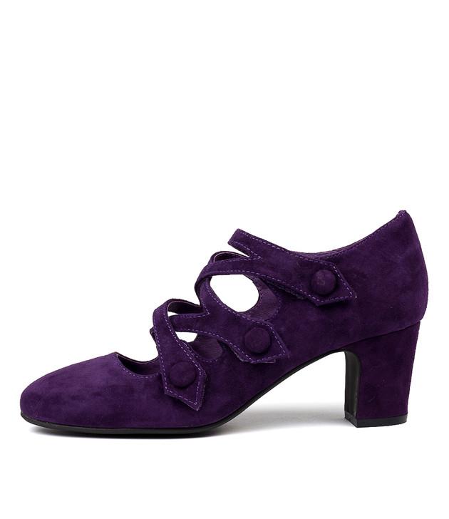 EMELDA Heels Purple Suede