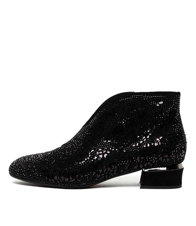GERMAN Boots Black Suede