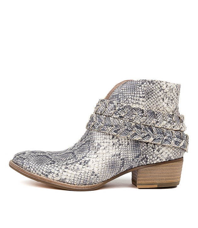 LILLA Boots Natural Snake Leather