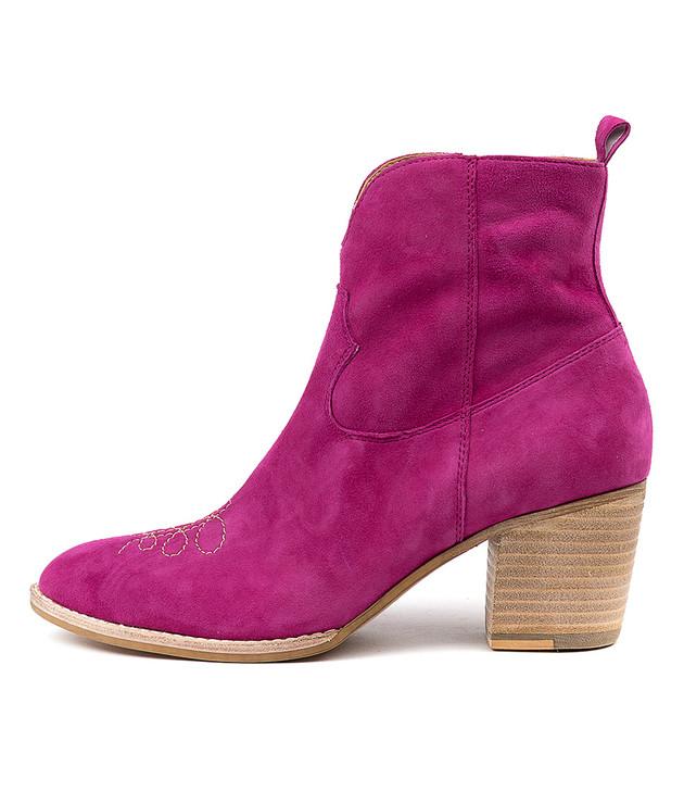 BERTHIE Boots Fuchsia Suede