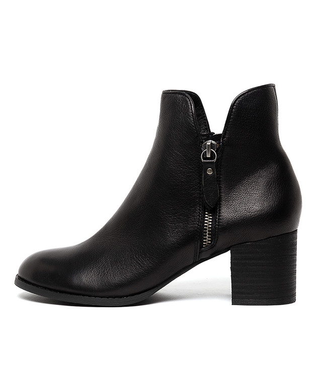 SHIANNELY Boots Black Leather