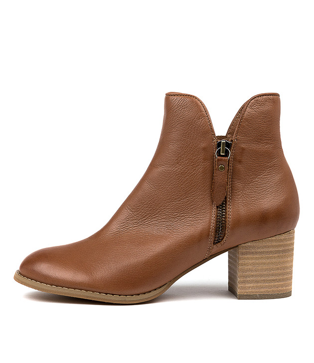 SHIANNELY Boots Cognac Leather