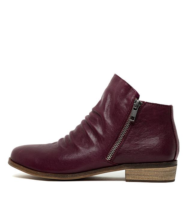 SPLIT Boots Purple Leather