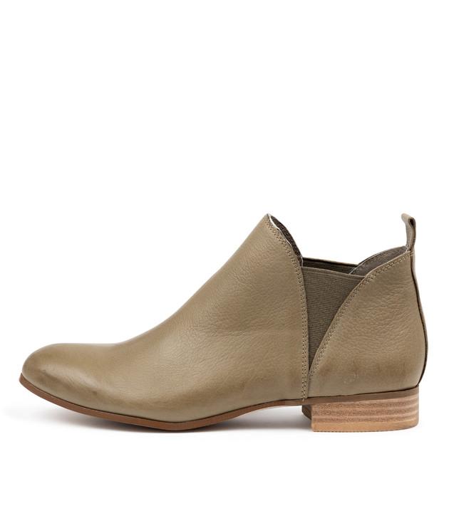 FOE Boots Khaki Leather