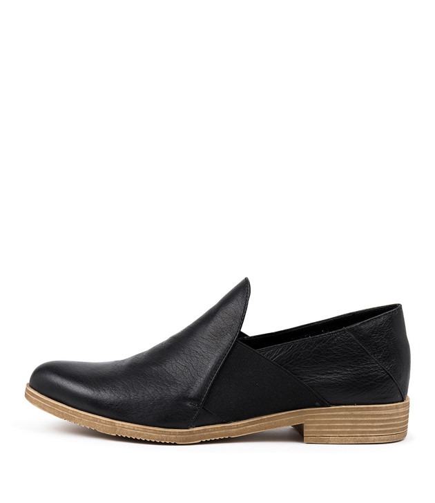 KEFECT Flats Black Leather