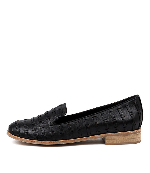 ARNO Flats Black Leather