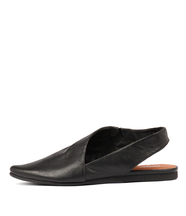 CODIE Flats in Black Leather