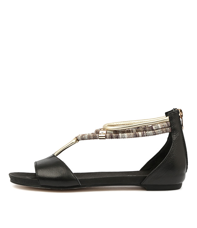 JAZMIN Black Multi Leather