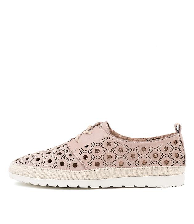 VONDA Flats Pale Pink Leather