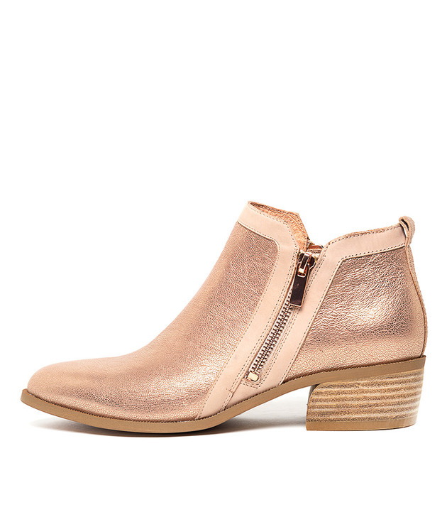 CARYL  Nude & Rose Gold Leather