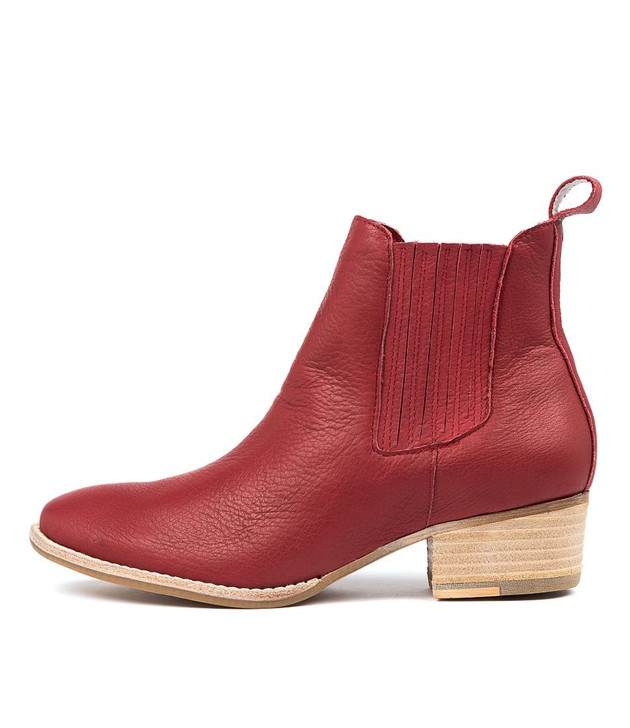 LEATTY Boots Red Leather