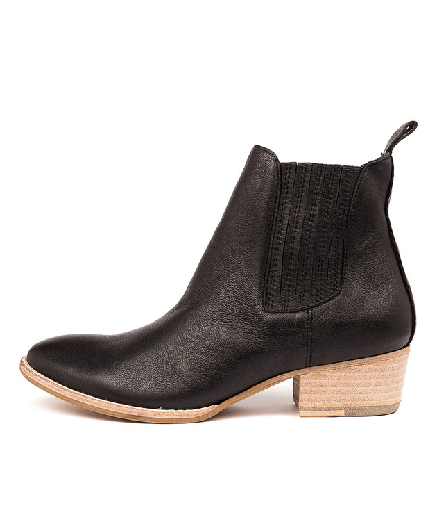 LEATTY Boots Black Leather