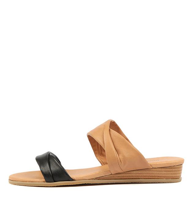 HANS  Black Tan Leather