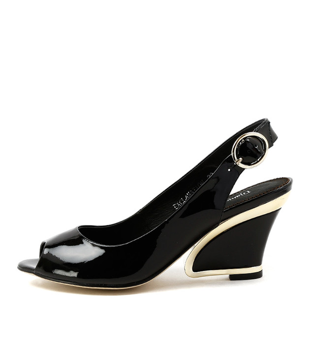 EXCLAMATION in Black Patent Leather