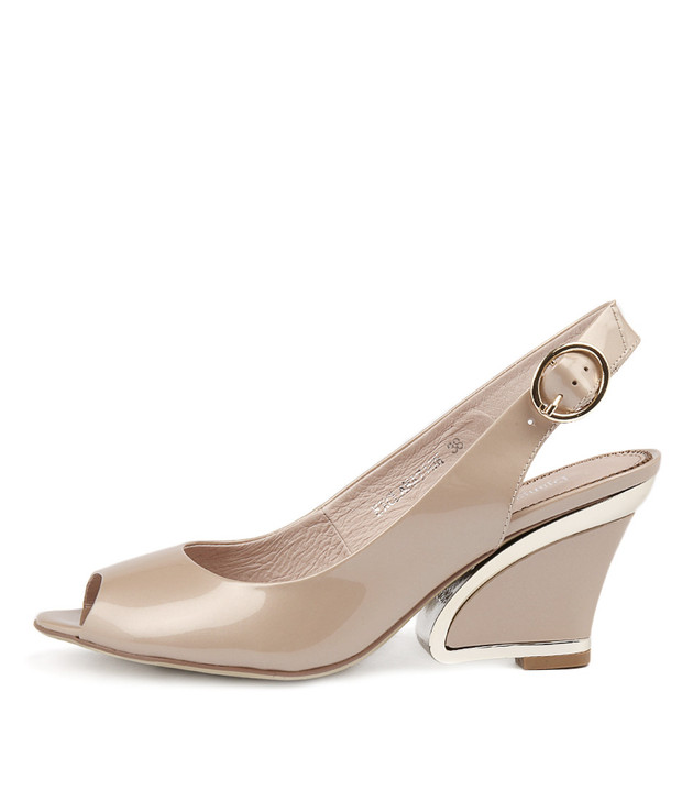 EXCLAMATION  Taupe Patent Leather
