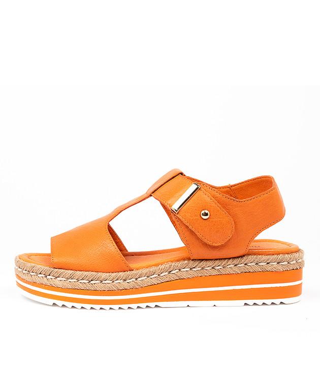 AMBERS  Bright Orange Leather