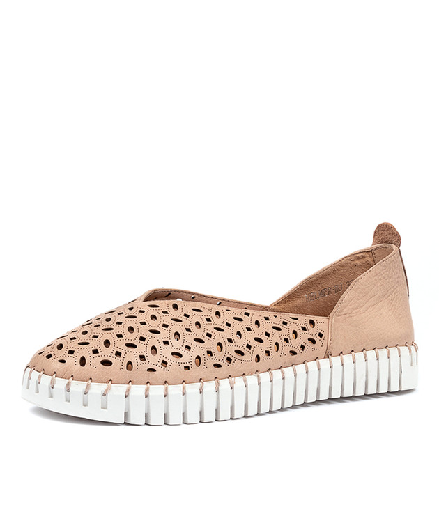 HELMER  Nude White Sole Leather