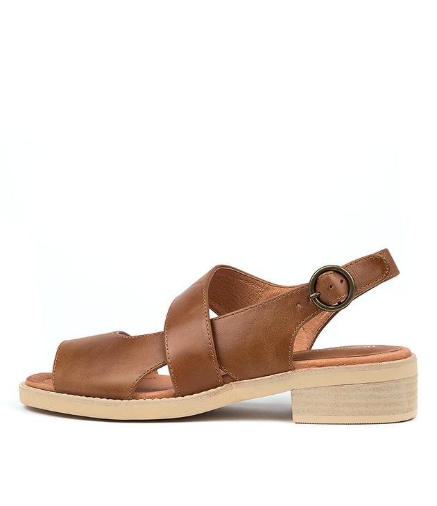 RANDEL  Dark Tan Leather