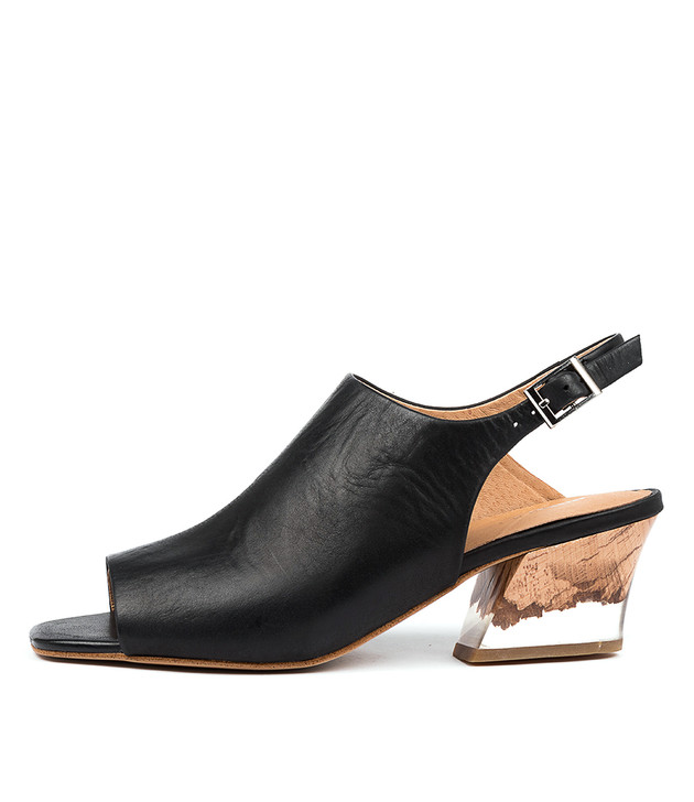 SYDELL in Black Natural Heel Leather