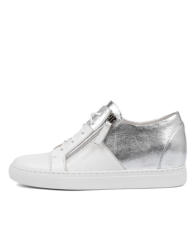 GREENE in White Silver Leather