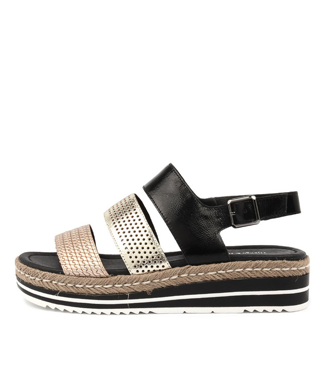 AKIDNA Black Gold Leather